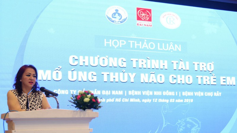 CEO Nguyễn Phương Hằng - Chủ tịch quỹ từ thiện Hằng Hữu phát biểu tại một hội thảo