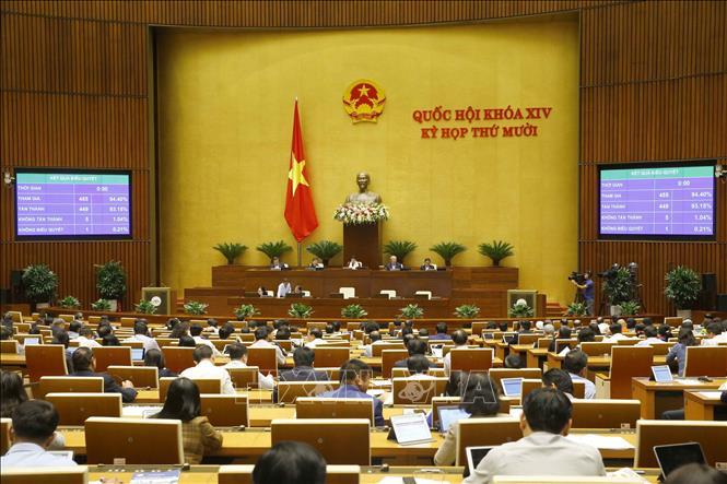 Chiều 13/11/2020, Quốc hội biểu quyết thông qua Luật Cư trú (sửa đổi). Ảnh: Doãn Tấn/TTXVN