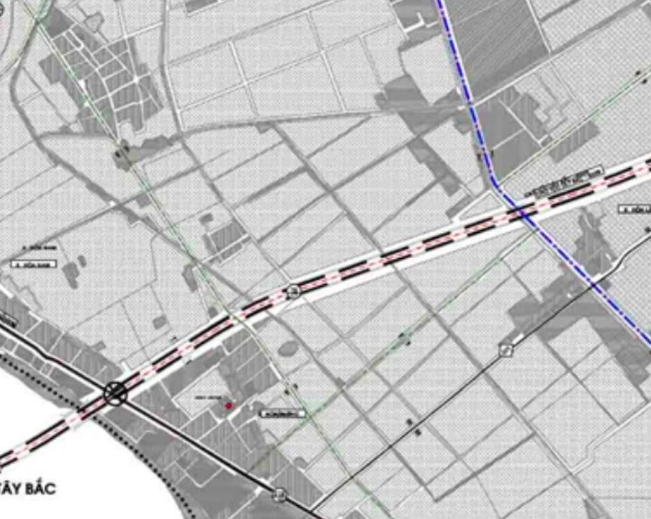 Bản đồ quy hoạch giao thông xã Hoà Phú.