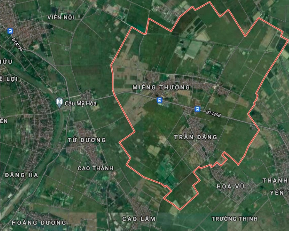 Xã Hoa Sơn trên bản đồ Google vệ tinh.