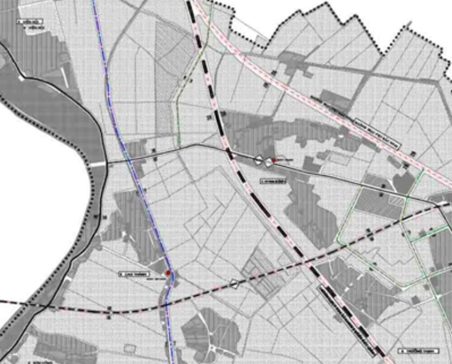 Bản đồ quy hoạch giao thông xã Hoa Sơn.