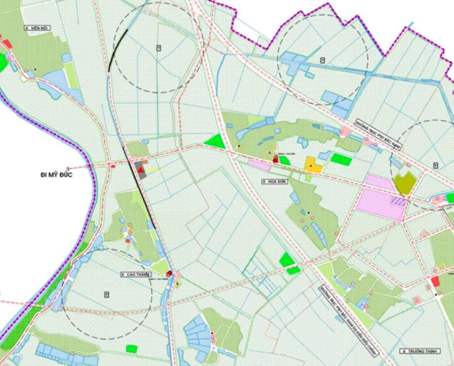 Bản đồ quy hoạch sử dụng đất xã Hoa Sơn.