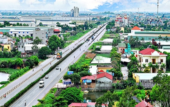 Một góc huyện Cẩm Giàng tỉnh Hải Dương