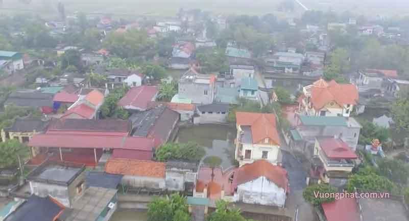Một góc huyện Bình Lục (ảnh flycam)