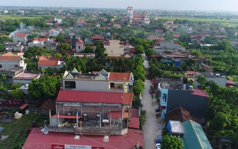 Một góc huyện Lý Nhân tỉnh Hà Nam (ảnh Flycam)