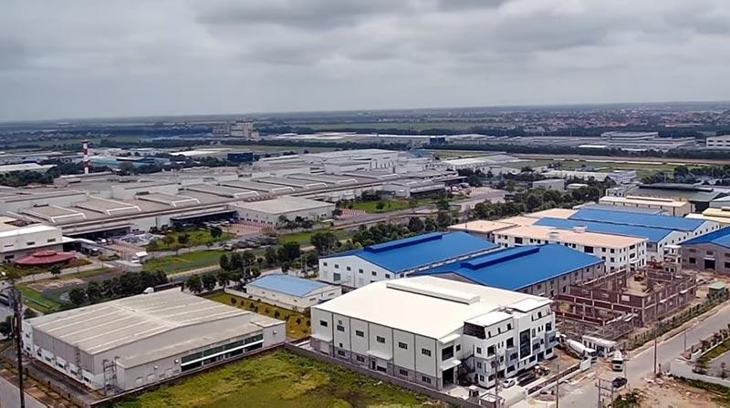 Một góc khu công nghiệp Đồng Văn thị xã Duy tiên tỉnh Hà Nam