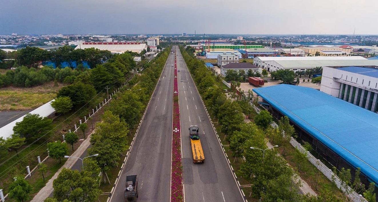 KCN Bàu Bàng, huyện Bàu Bàng, tỉnh Bình Dương. (Ảnh: Becamex).