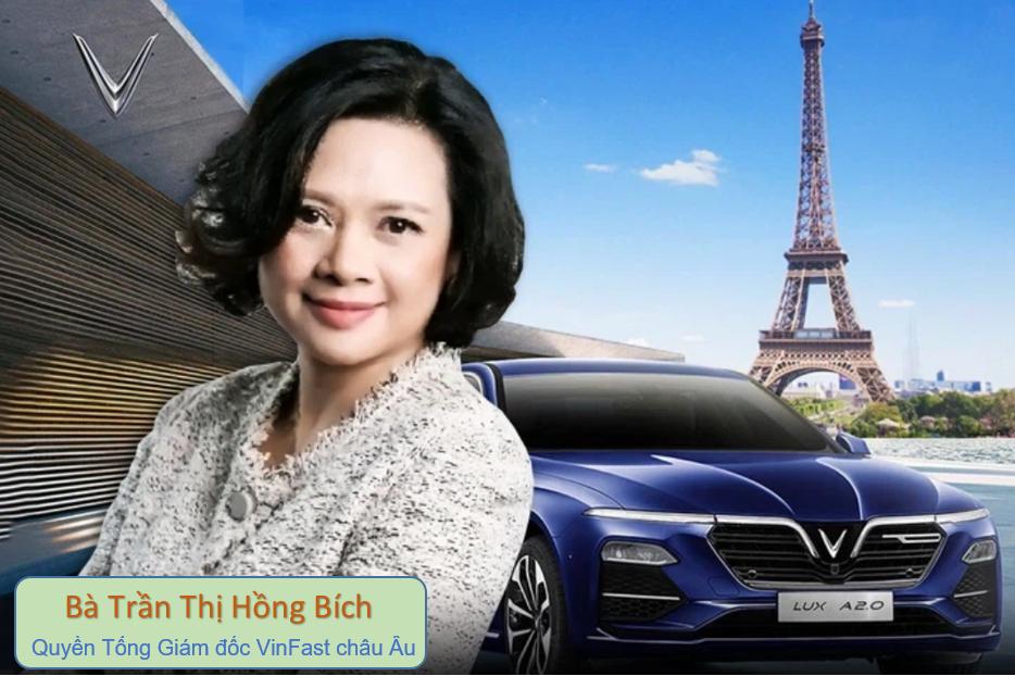 Bà Trần Thị Hồng Bích, Quyền Tổng Giám đốc VinFast châu Âu. (Ảnh: LinkedIn Bích Trần.