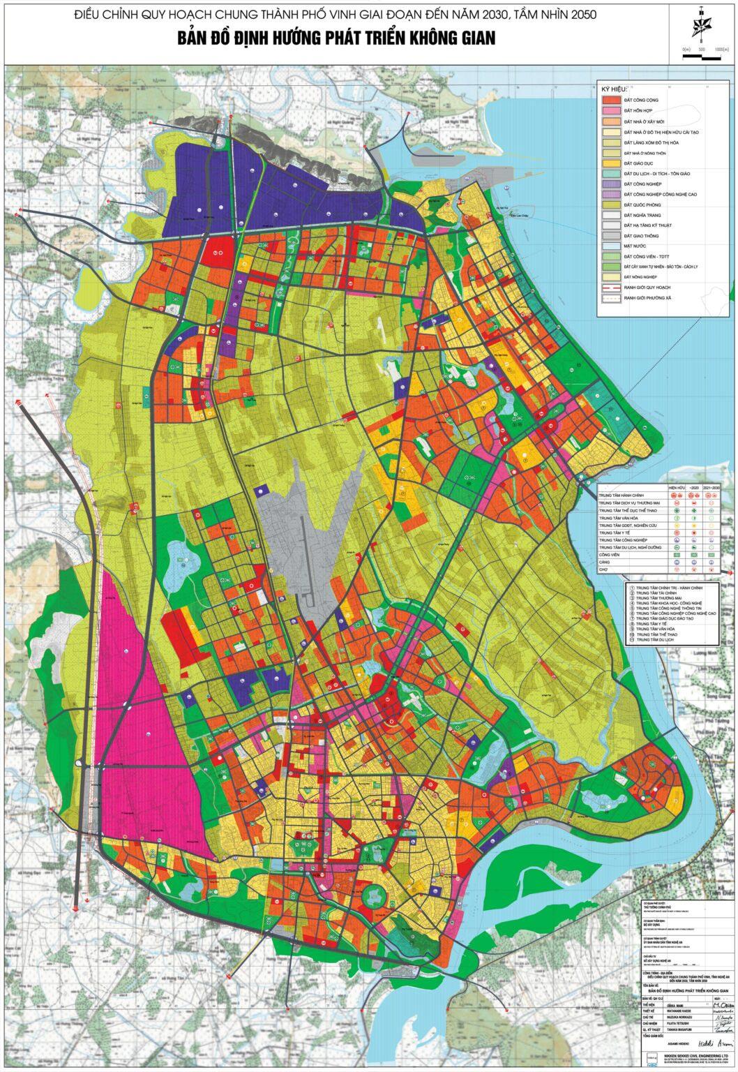 Bản đồ định hướng quy hoạch tại TP Vinh đến 2030