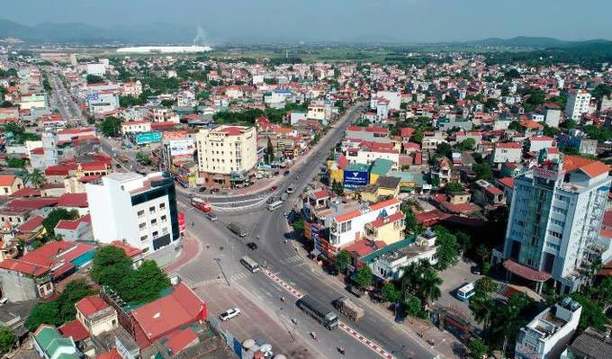 Một góc thành phố Chí Linh tỉnh Hải Dương