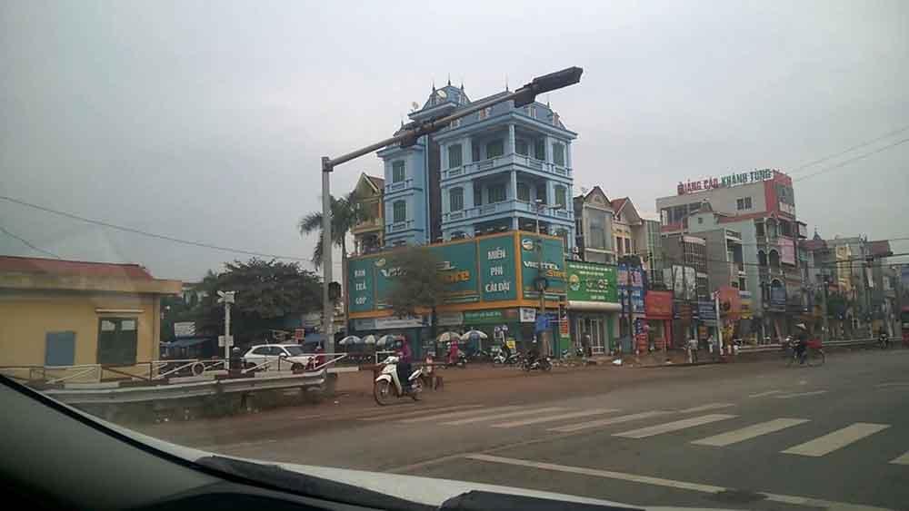 Một góc thị trấn kép
