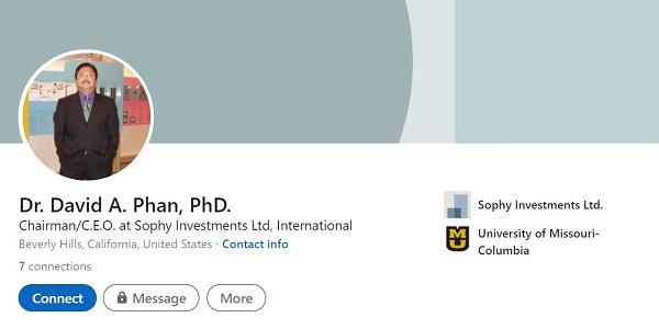 Ông David Aristotle Phan trên LinkedIn
