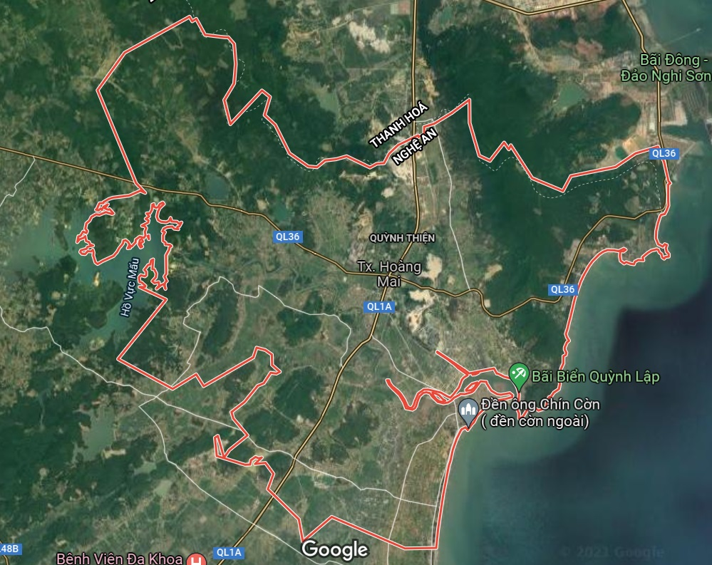 Thị xã Hoàng Mai  trên google vệ tinh