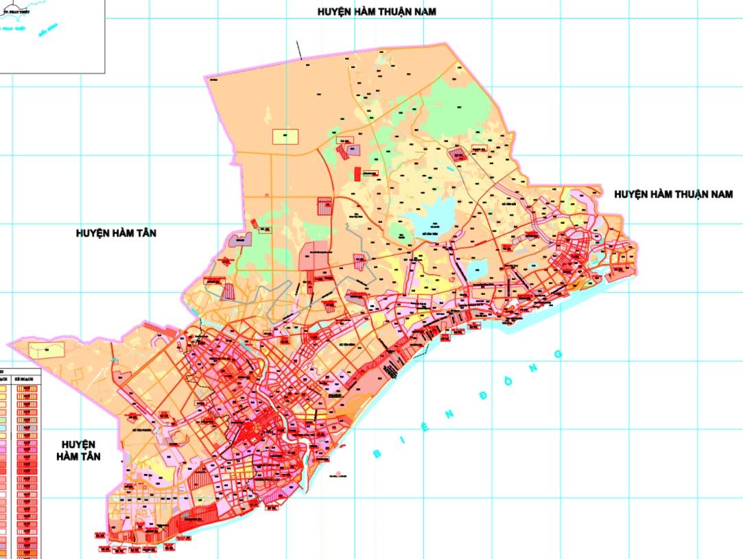Bản đồ quy hoạch sử dụng đất năm 2021 thị xã La Gi
