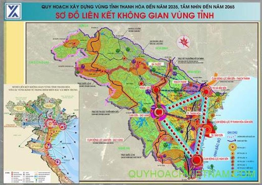 Sơ đồ kết nối không gian tỉnh Thanh Hóa đến 2035 tầm nhìn 2065