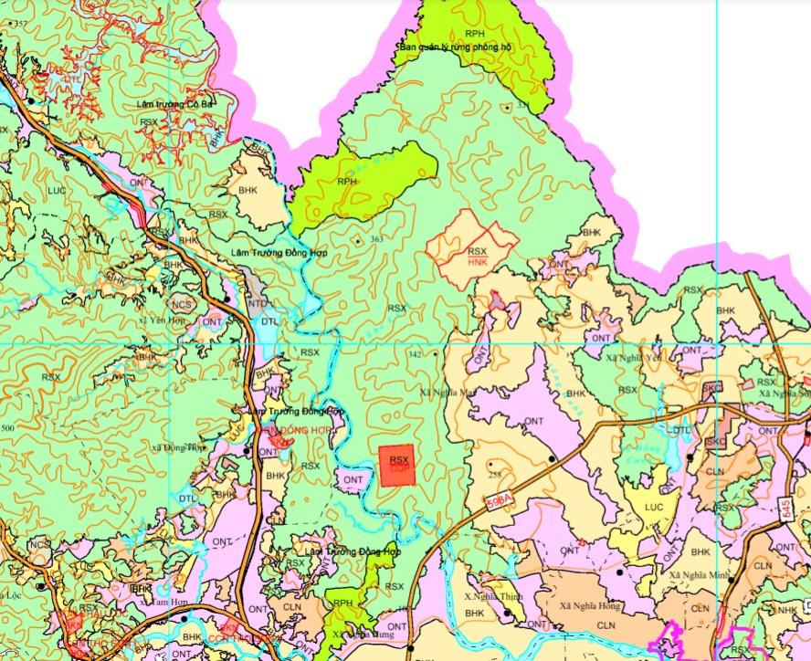 Bản đồ quy hoạch giao thông huyên Quỳ Châu được xác định theo Bản đồ quy hoạch sử dụng đất đến 2020 tỉnh Nghệ An