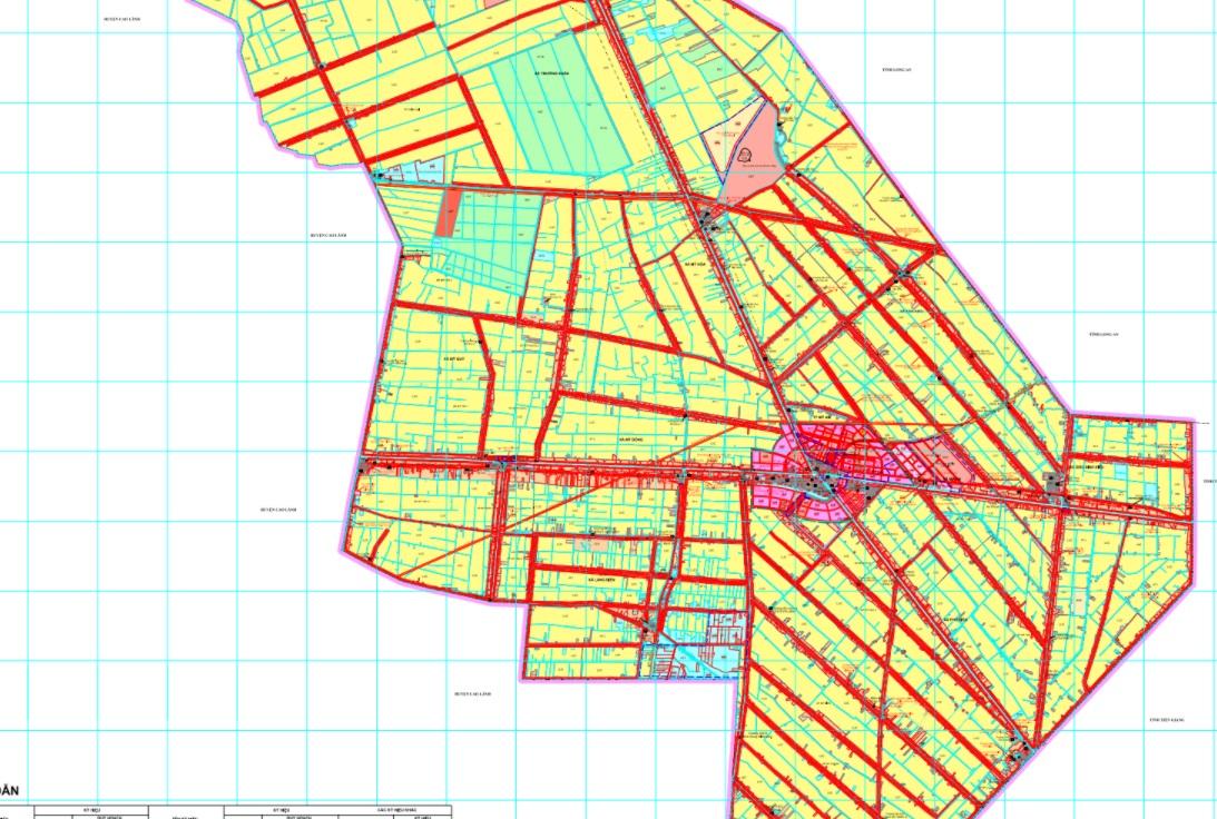 Bản đồ quy hoạch sử dụng đất huyện Tháp Mười đến 2030