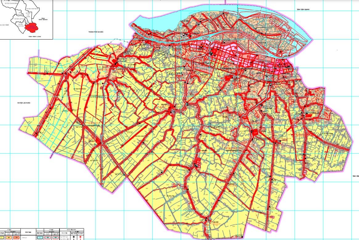 Bản đồ quy hoạch sử dụng đất năm 2021 huyện Châu Thành