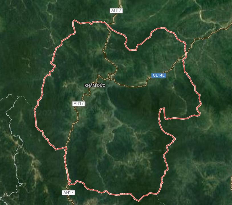 Huyện Phước Sơn trên google vệ tinh